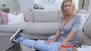 Horny MILF likes to suck her stepson's huge cock on the weekends.