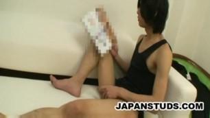 Satoru Kayama - Charming Japanese Stud Massaging His Penis